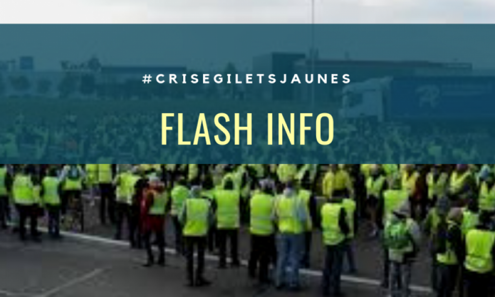 Illustration : FLASH INFO CRISEGILETSJAUNES
